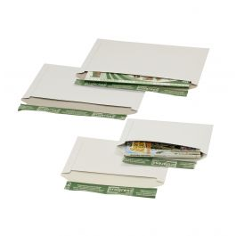 Progress massiefkarton enveloppen 246 x 172 mm wit met strip