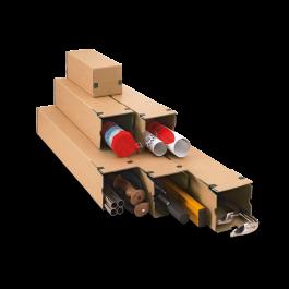 Progress longbox met strip 190 x 190 x 1005 mm bruin B0