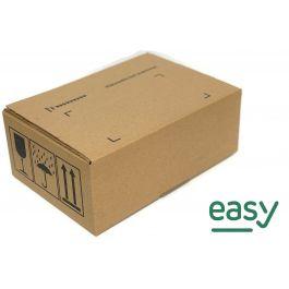 Easy box 384 x 284 x 180 mm met dubbele strip bruin