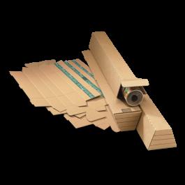 Progress trapeze koker met strip 108/145 x 75 x 860 mm bruin A0