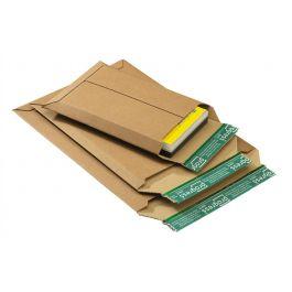 Progress golfkarton enveloppen 235 x 337 x 35 mm bruin met strip