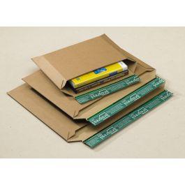 Progress golfkarton enveloppen 400 x 285 x 30 mm bruin met strip