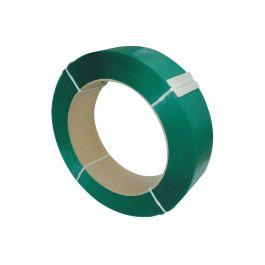 Omsnoeringsband PET 12 x 0,60 mm x 2500 mtr kern 406 mm groen