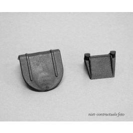 Beschermhoeken plastic 50 x 35 x 25 mm zwart met pinnen