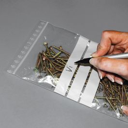 Gripzakken met schrijfvlakken 160 x 220 mm transparant