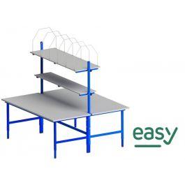 Easy paktafel dubbel 2000 x 900 x 700-950 mm
