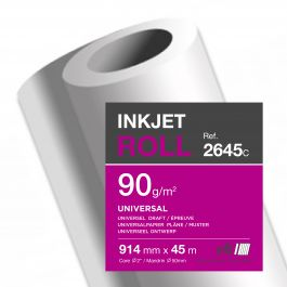Clairefontaine inkjet rollen wit 90 g/m² 914 mm x 45 M 50 mm