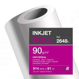 Clairefontaine inkjet rollen wit 90 g/m² 914 mm x 91 M 50 mm