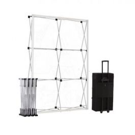 Smart Fabric Pop-up Silver 2x3 in square trolleycase