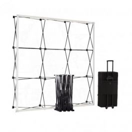 Smart Fabric Pop-up Black 3x3 in square trolleycase