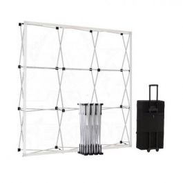 Smart Fabric Pop-up Silver 3x3 in square trolleycase
