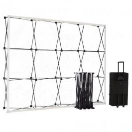 Smart Fabric Pop-up Black 4x3 in square trolleycase