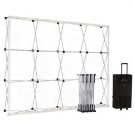 Smart Fabric Pop-up Silver 4x3 in square trolleycase