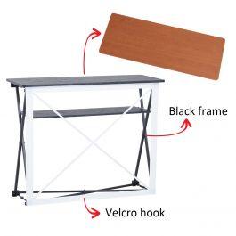 Smart Fabric Counter black, wood top