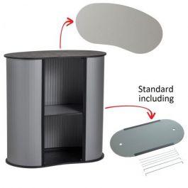 Portable Counter Kidney silver