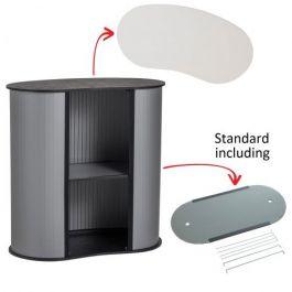 Portable Counter Kidney white