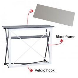 Smart Fabric Counter black, silver top