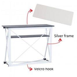 Smart Fabric Counter silver, white top