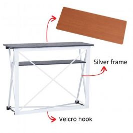 Smart Fabric Counter silver, wood top