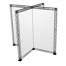 Crosswire Set X-stand 240 x 150 cm