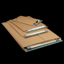 Progress golfkarton enveloppen 735 x 1055 x 55 mm bruin met strip