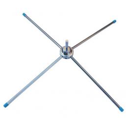 Igepa Feather Pole crossfoot zink metallic 40 cm x 40 cm