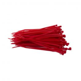 Kabelbinders 100 x 2,5 mm rood