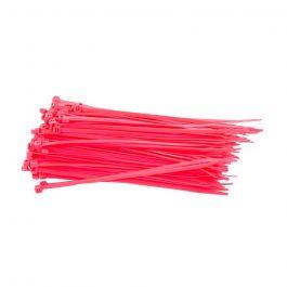 Kabelbinders 100 x 2,5 mm roze