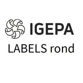 Igepa labels wit 38 x 99 mm ronde hoeken (vel 297x210) 14eti/100