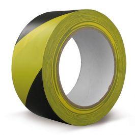 Markeringstape 50 mm x 33 mtr zwart/geel