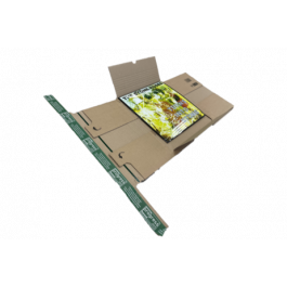 Progress premium boekverpakking 320 x 320 x 55 mm bruin LP