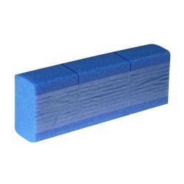 Schuimpads zelfklevend permanent 100 x 100 x 50 mm x 1,15 mtr blauw