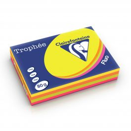 Clairefontaine Trophee fluo assorti 1705 80 g/m² 210 x 297 mm LL