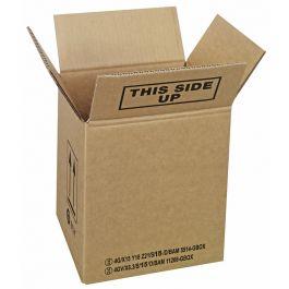 UN doos enkele golf 200 x 180 x 360 mm bruin X8 Y10 Z12