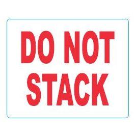 Waarschuwingsetiketten 97 x 79 mm Do not stack