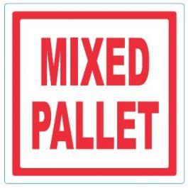 Waarschuwingsetiketten 98 x 98 mm Mixed pallet